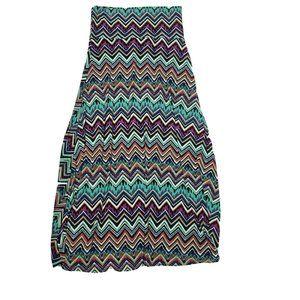 NWOT LULAROE Multicolored Maxi Skirt Medium